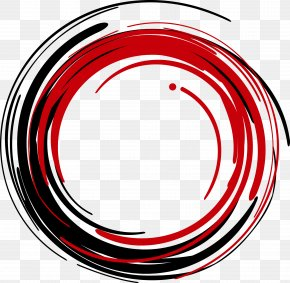 Vector Red Circle Ink - The Wynwood Yard Clip Art PNG