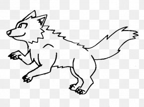 Wolf Outline - Dog Black And White Line Art Cartoon Clip Art PNG