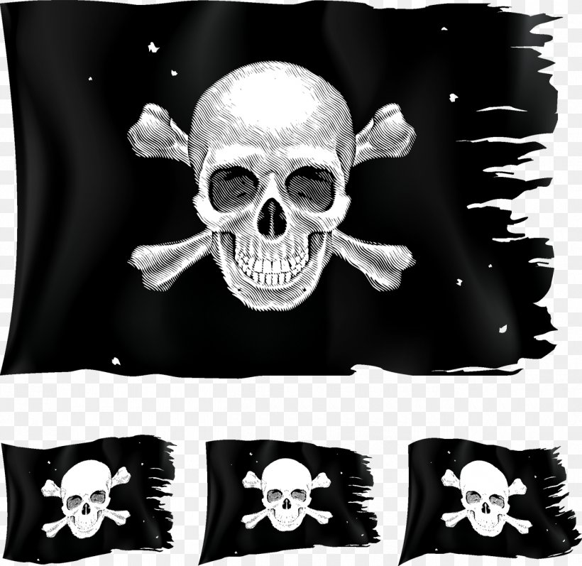 Jolly Roger Piracy Clip Art, PNG, 1300x1264px, Jolly Roger, Black And White, Bone, Flag, Flag Of The United States Download Free