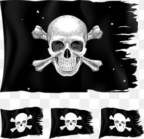 Pirate Flag - Jolly Roger Piracy Clip Art PNG