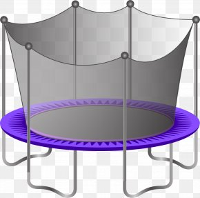 Trampoline With Protective Net - Trampoline PNG