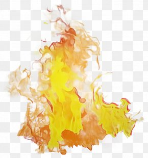 Watercolor Paint Yellow - Watercolor Drawing PNG