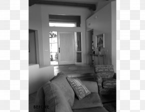 Living Room - House Architect Interior Design Services Black And White Monochrome Photography PNG
