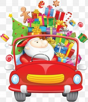 Santa Claus By Car Free Download - Santa Claus Christmas Day Vector Graphics Illustration Stock Photography PNG