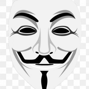 Mask - Guy Fawkes Mask Anonymous Security Hacker PNG