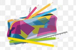 Cartoon Pencil Ruler - Graphic Design Pencil PNG