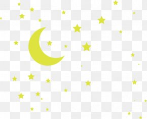 Night Sky - Line Point Angle Yellow Pattern PNG