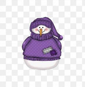 Snowman Sweater - Snowman Christmas Decoration Purple Clip Art PNG