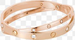 Cuff Bracelets - Love Bracelet Cartier Bangle Diamond Gold PNG