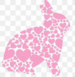 Pink Love Rabbit Decoration - Animal Jam Easter Bunny Rabbit Clip Art PNG