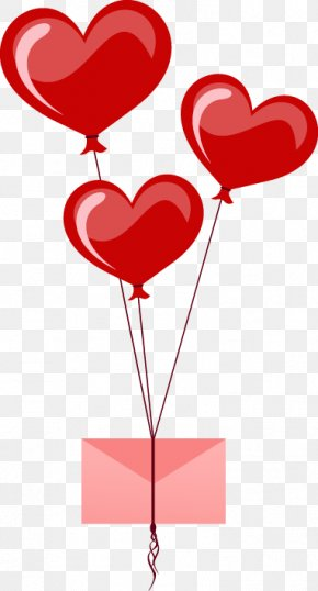 Valentine's Day Heart-shaped Balloon - Heart Balloon Valentine's Day Clip Art PNG