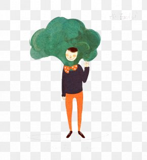 Character Broccoli - Broccoli Cartoon Illustration PNG