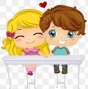 Valentine's Reading Cliparts - Child Cuteness Clip Art PNG