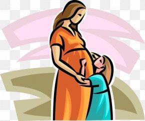 Pregnancy - Clip Art Mother Pregnancy Woman Child PNG