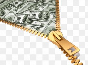 Zipper Pull In Money - Money Bag Stock Photography Stock Illustration Banknote PNG