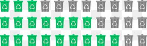 Green Simplified Trash Can Background - Picket Fence Split-rail Fence PNG