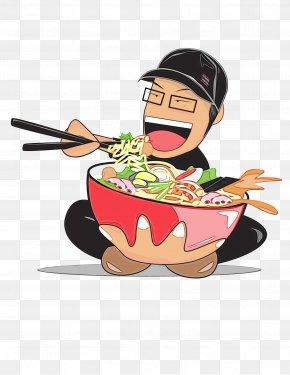 Ramen Meal - Cartoon Food Dish Cookware And Bakeware Frying Pan PNG