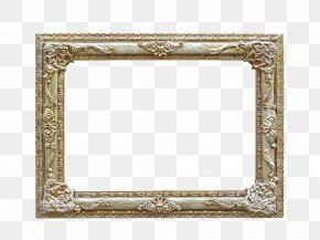 Gold Frame - Picture Frame Stock Photography PNG
