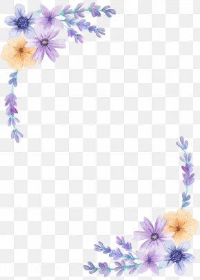 Lavender Petal Flower - Borders And Frames Flower Floral Design Clip Art PNG