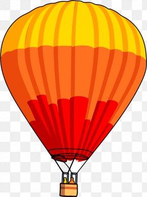 Orange Cartoon Hot Air Balloon - Hot Air Balloon Clip Art PNG