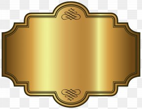 Golden Luxury Label Template Clipart Picture - Gold Wallpaper PNG