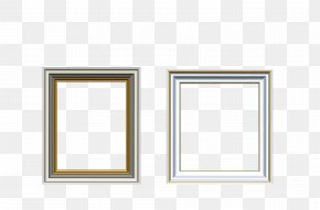 Vector Silver Gold Frame Two Groups - Picture Frame PNG