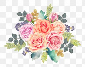 Painting - Watercolor: Flowers Watercolor Painting Floral Design Flower Bouquet PNG