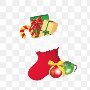 Christmas Socks - Christmas Gift Sock PNG