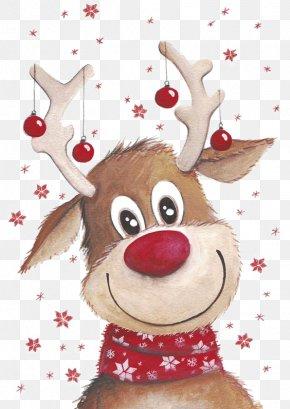 Christmas Deer - Rudolph Santa Claus's Reindeer Santa Claus's Reindeer Clip Art PNG