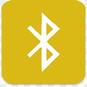 Yellow Bluetooth Signal - Bluetooth Low Energy Handsfree Wireless Pairing PNG