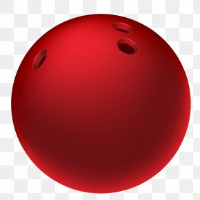 Red Bowling Ball Clipart Picture - Red Bowling Ball Sphere PNG