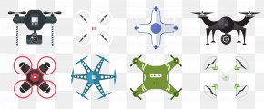 Flat UAV - Unmanned Aerial Vehicle Flat Design Icon PNG