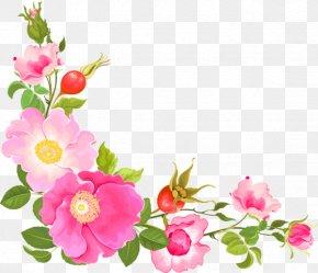 Flower Garland - Flower Floral Design Watercolor Painting Clip Art PNG