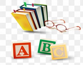 English Alphabet Book Glasses - Child Toy Block Animation PNG