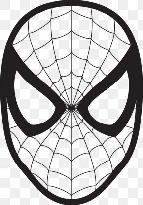 Spider-Man Mask Cliparts - Spider-Man Drawing Face Coloring Book Clip Art PNG