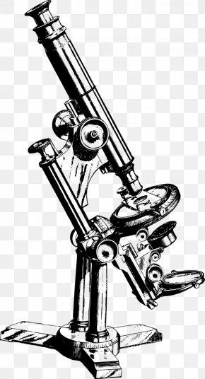 Microscope - Optical Microscope Drawing Clip Art PNG