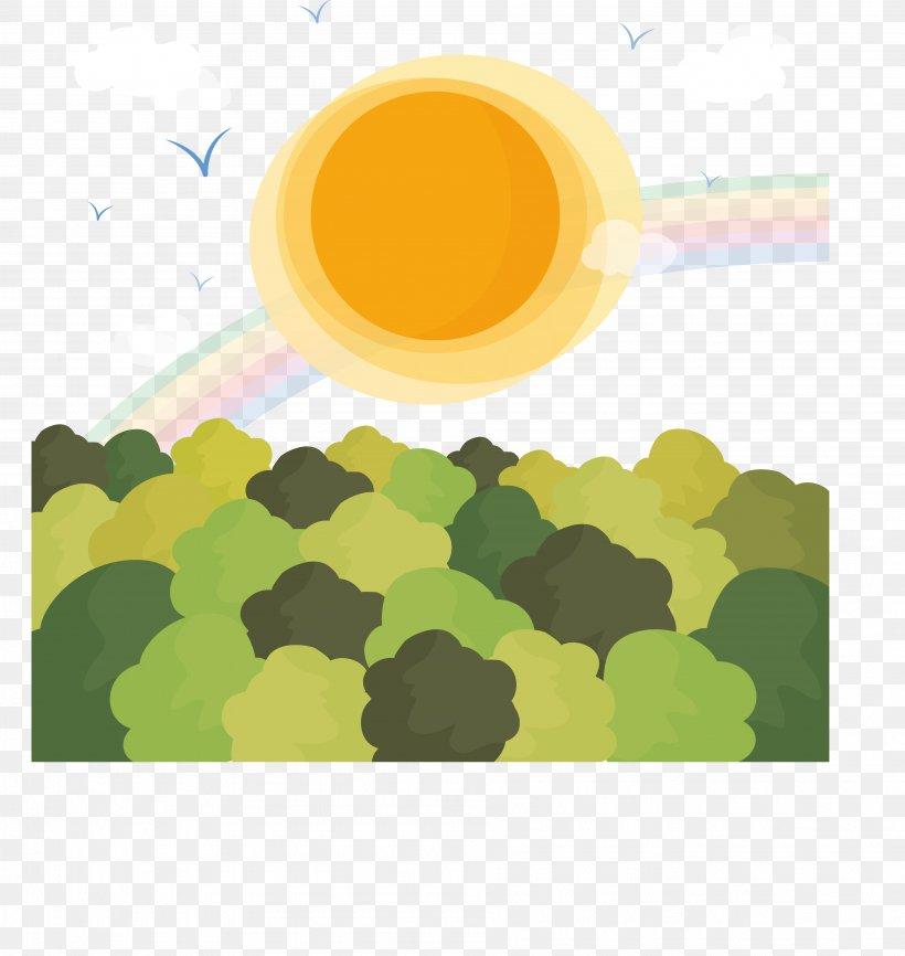 Landscape Euclidean Vector Clip Art, PNG, 3782x3996px, Landscape, Fukei, Green, Illustration, Pattern Download Free