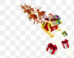 Santa Claus - Santa Claus's Reindeer Santa Claus's Reindeer Rudolph Christmas Day PNG