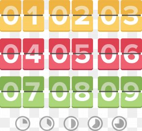 Free Creative Color Digital Countdown - Countdown Digital Data Computer File PNG