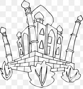 Taj Mahal - Taj Mahal Colouring Pages Adult Coloring Book: Stress Relieving Patterns Drawing PNG