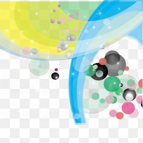 Vector Color Circles And Curves - Circle Curve Euclidean Vector PNG