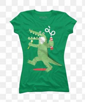 Green Crocodile - T-shirt Hoodie Neckline Sweater PNG