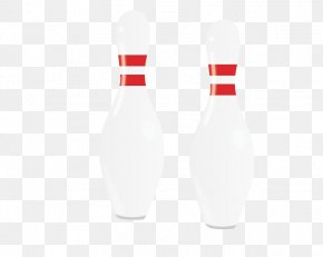 Hand-painted Bowling - Bowling Pin White Pattern PNG