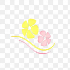 Petal Flower - Pink Yellow Leaf Logo Plant PNG