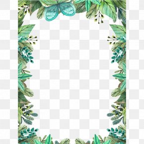 Floral Frame - Clip Art Watercolor Painting Image PNG