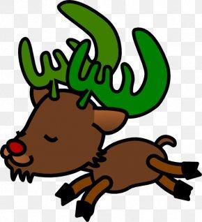 Reindeer - Reindeer Rudolph Santa Claus Clip Art PNG