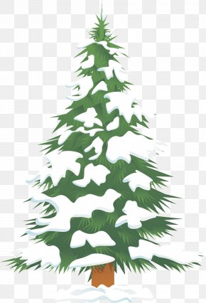 Green Snow Christmas Tree - Christmas Tree PNG