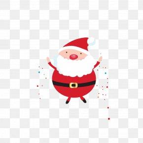 Vector Cute Cartoon Santa Claus - Santa Claus Christmas Gift Christmas Gift Christmas Tree PNG