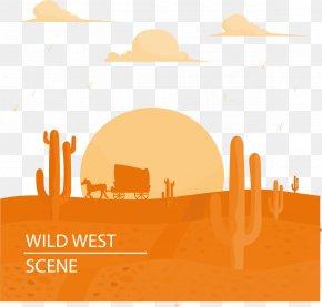 Desert Scene At Dusk Under - Sunset Dusk Download PNG