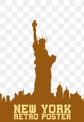 Statue Of Liberty - Statue Of Liberty Painting Skyline PNG